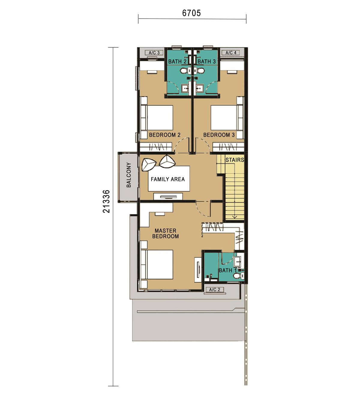 2-Storey Link Home - Corner Unit - First Floor