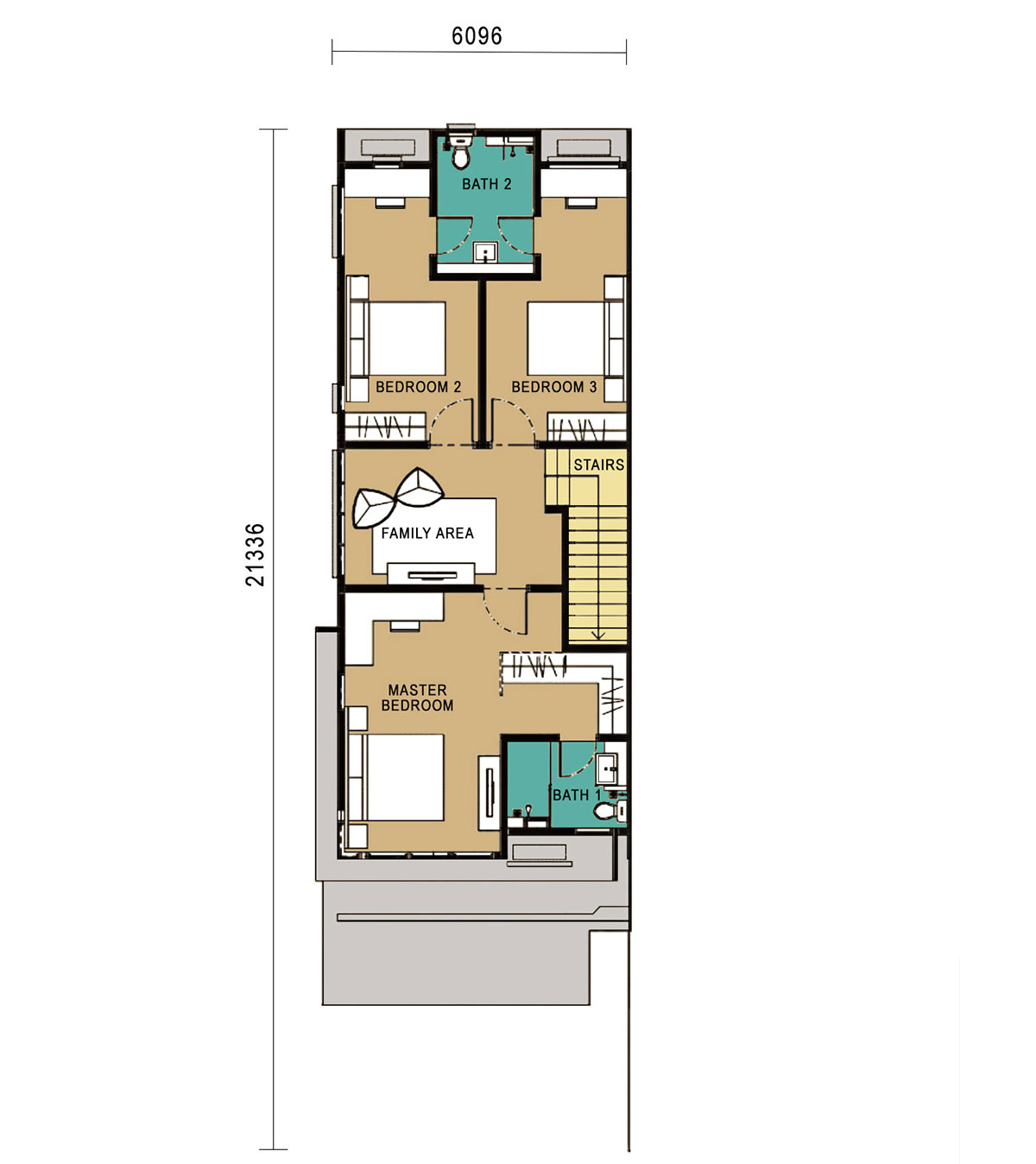 2-Storey Link Home - End Unit - First Floor